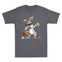 Dabbing Rabbit Easter Day Eggs Dab Funny Bunny Gifts T-shirt Men's Cotton Tee