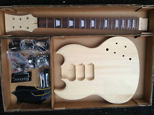 ELECTRIC GUITAR KIT SG. BASSWOOD BODY, MAPLE SET NECK. x3 PICKUPS H-H-H