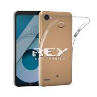 Funda Silicona para LG Q6 Carcasa Transparente Protector s496