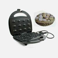 Electric Walnut Cookie Maker Plug Mold Nut Waffle Bubble Egg Cake Maker Oven