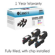 5 1250 Toner Cartridge Black Color Set For Dell Laser C1760nw C1765nf C1765nfw