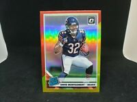 David Montgomery red yellow prizm rated rookie 2019 Optic Chicago Bears #161