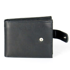Mens Genuine Leather Clutch Closure Bifold Wallet Card ID Window Billfold Flap