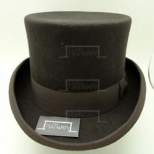 VINTAGE Wool Felt Topper Top Hat Men FORMAL Tuxedo Victorian NEW | 59cm | Olive