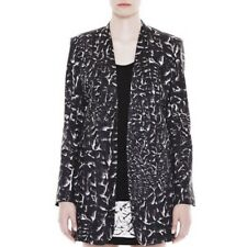 NEW Helmut Lang Womens Strata Print Black & White Suit Jacket Size 4 NWT $695