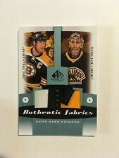 Zdeno CHARA & Tuukka RASK UD SP Game Used Dual Jersey Patch /25 Boston Bruins