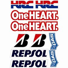 Motorcycle sponsor decals graphics stickers #004