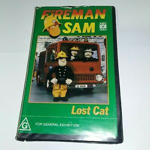 Fireman Sam Lost Cat VHS CLAMSHELL COVER ONLY ABC 1990  (clamshellcover only)