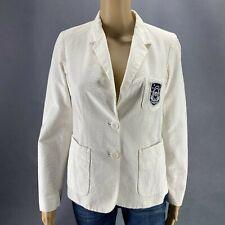 Lacoste Women Blazer Jacket White Two Button Sz 38