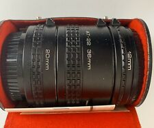 Vivitar Automatic Extension Tubes With Case & Manual 12, 20, AT-1 36mm