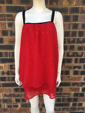 Autograph Ladies Sequin Top Red Size 20