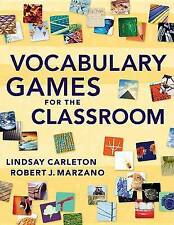NEW Vocabulary Games for the Classroom by Robert J. Marzano