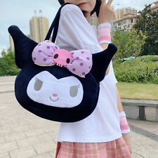 Women Girl's Cute Kuromi Bow Handbag Shoulder Bag Tote Christmas Gift US
