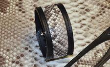 Bracelet de force cuir et peau de Python Véritable