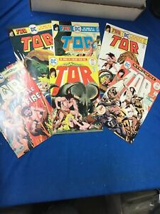 DC Bronze Age: Tor Comic Set 1-6 Mostly Very Fine Or Better