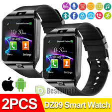 2Pack Waterproof Smart Wrist Watch Bluetooth Phone Mate For IOS Android Samsung