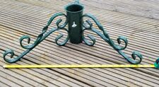 REAL CHRISTMAS TREE BASE HOLDER STAND METAL HEAVY DUTY GREEN