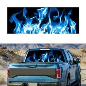 Burning Blue Flame Totem Rear Window Graphic Decal Sticker for Car Truck SUV Van