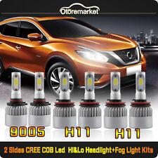CREE LED Hi/Lo Beam Headlight+Fog Light Combo 9005+H11+H11 600W 60000LM TOTAL