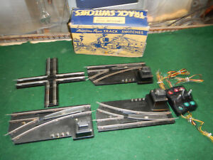 3 American Flyer A.C. Gilbert 1Pr. 720A Remote Control Track Switches W/Box Work