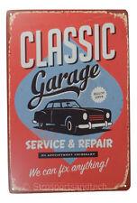Classic Mechanic Tin Sign Bar Cafe Diner Garage Wall Decor Retro Metal Vintage
