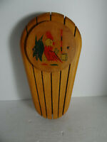 Vintage Wood Knife Rack Holder Rooster Country Farmhouse Rustic Holds 5 Knives