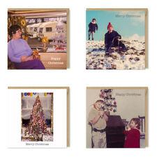 Pack of 4 Vintage, Retro Christmas Cards by Honovi