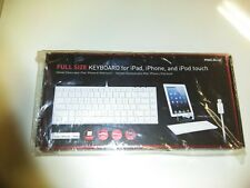 MACALLY IKEYLT FULLSIZE KEYBOARD WIRED LIGHTNING CABLE FOR IPHONE/IPAD/IPODTOUCH