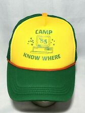 Stranger Things Dustin 85 Camp Know Where Mesh Snap Back Trucker Hat Cap