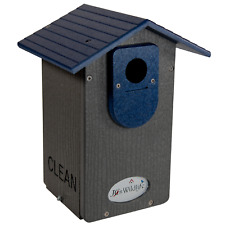 Jcs Wildlife Gray Recycled Ultimate Bluebird House W/Blue Roof & Free Shipping