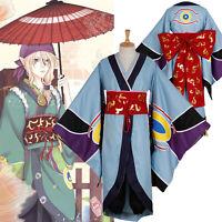 Mononoke Ayakashi Medicine Seller Kusuriuri Kimono Cosplay Costume With Kerchief
