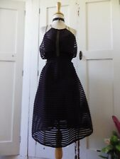 GORGEOUS DOTTI BLACK CONSTRUCTED FORMAL PARTY OCCASION DRESS WITH OPEN BACK 14