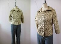 Vintage 60s Gold Lame Brocade Jacket Small Buy 3 + items for FREE Postage
