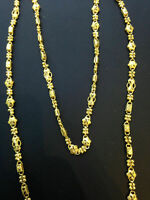 Classy Dubai Handmade Chain Necklace In Solid Certified Hallmark 22K Yellow Gold
