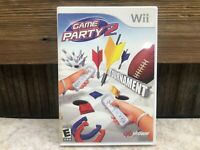 Game Party 2 (Nintendo Wii, 2008) Tested Works NO MANUAL