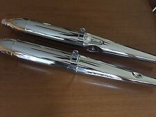 VINTAGE BMW R50S,R69, R69S NEW PAIR OF BEAUTIFUL SEAMED CHROME  MUFFLERS