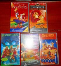 5 Children's VHS Tapes Babe Scooby Doo Madelaine Lion King 1 & 2
