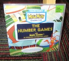 HARCOURT - MEGA MATH: THE NUMBER GAMES WITH MATH CENTER PC CD-ROM, GRADES 3-6