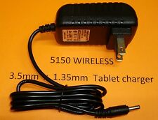 3.5mm 5V 2 AMP AC/DC Wall Charger for Sylvania/Nextbook Tablet eReader