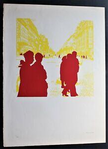 GERARD FROMANGER - SERIGRAFIA 1974 serigraph