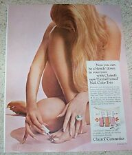 1967 print ad page - Clairol cosmetics Sexy NUDE Girl vintage Advertising ADVERT