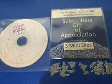 3 x Tattered Lace Mini Dies & Fairies For The Year, My Craft Studio CD Rom