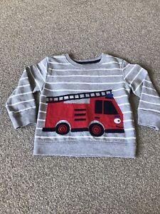 Boys Fire Engine Sweatshirt 2-3 Years