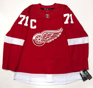 DYLAN LARKIN DETROIT RED WINGS AUTHENTIC ADIDAS JERSEY NEW WITH TAGS CAPTAINS C
