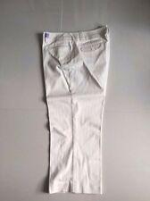 Women Multi Color New York & Company Striped Capris Cropped Pant sz 14