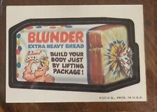 1973 WACKY PACKAGES SERIES 2 Blunder Bread LUDLOW BACK