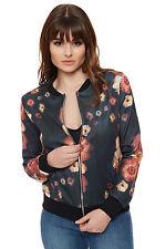 Geblümte Damenjacken & -mäntel aus Polyester mit Reißverschluss