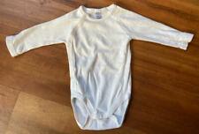 Petit Bateau White LS One Piece Size 3M Months Bodysuit