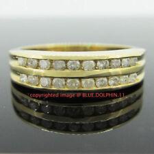 Diamond Band Yellow Gold Natural Fine Rings