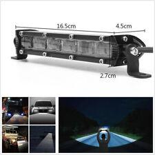 "7""inch Cree LED 60W Single Row Car SUV Off Road LED Work Light Bar 6D Flood Beam"